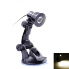 USB Multi-Angle Rotation Adjustment 100lm LED Warm White Light Desk Lamp w/ Suction Cup - Black