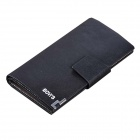 Bovi's T8019-3 Men's Split Cowhide Long Wallet - Black