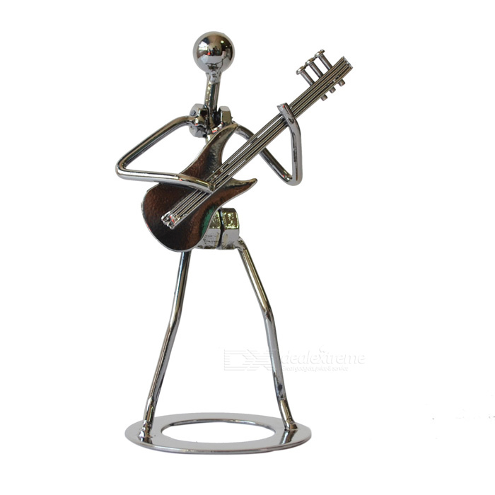 DEDO MG-196 Stylish Guitar Man Style Iron Statue Artwork - Black