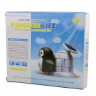 DIY Cute Penguin Style Solar Energy Powered Rechargeable Toy Kit - Black + White