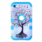 Love Heart Tree Style Protective Silicone Case for IPOD Touch 4 - Blue and White