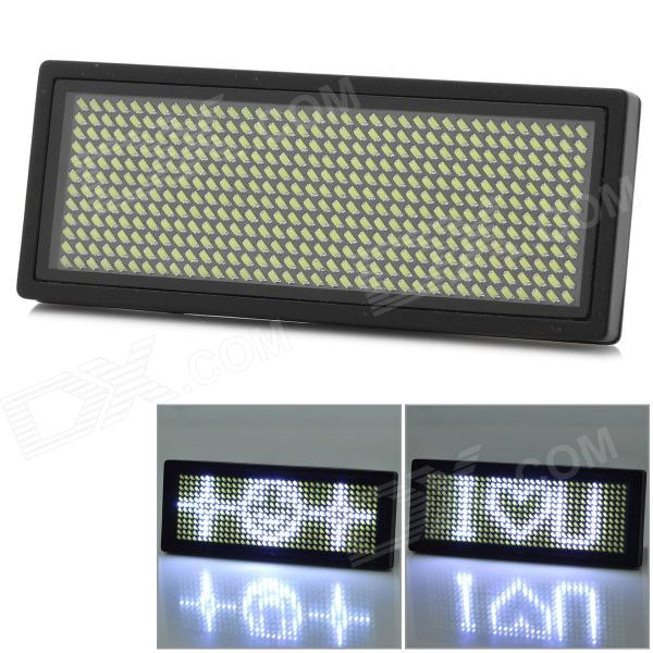 12*36 Dots USB Rechargeable Advertising Scrolling Board Message Name Badge Sign w/ 432-LED