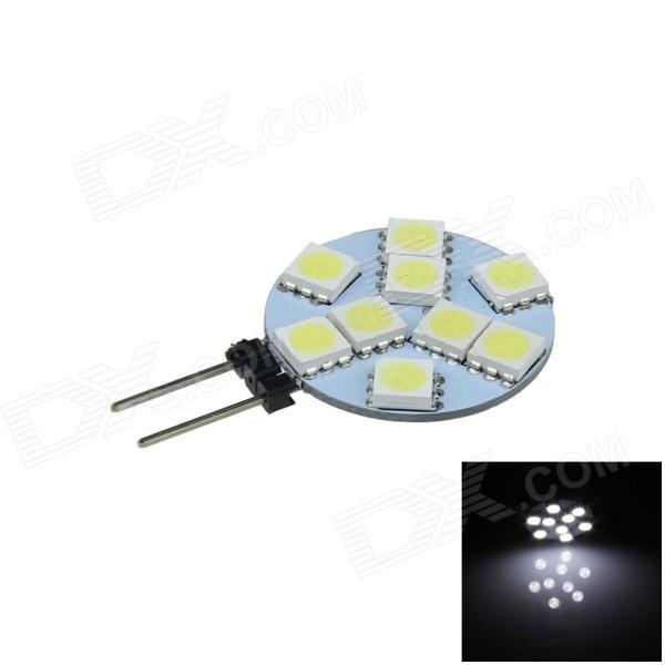G4 1.8W 130lm 9 x SMD 5050 LED White Polarity Free Instrument Light / Reading / Roof Lamp - (12V)