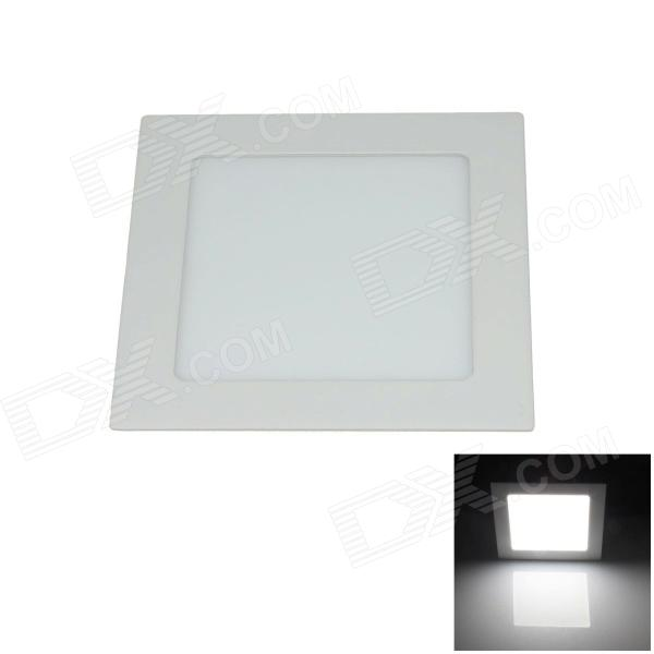 15W 1500lm 6000K 75-SMD 2835 LED Ultrathin Square White Ceiling Light w/ Driver - White (AC 85~265V) kinfire square shaped 15w 1320lm 75 smd 3528 led white light ceiling lamp w driver ac 85 265v