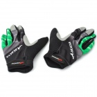 Acacia 0394311 Cycling Full-Finger Gloves - Black + Green (Size M / Pair)