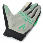 Acacia Cycling Full-Finger Gloves - Black + Green (Size M / Pair)