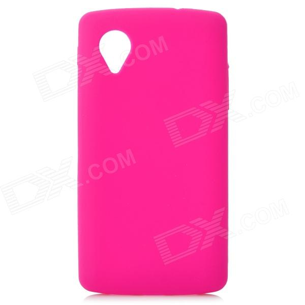 Stylish Protective Silicone Back Case for LG Nexus 5 - Deep Pink protective silicone back case for lg nexus 5 translucent white
