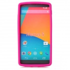 Stylish Protective Silicone Back Case for LG Nexus 5 - Deep Pink