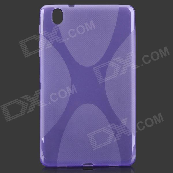 """X"" Style Anti-Slip Protective TPU Back Case for Samsung Galaxy Tab Pro 8.4 T320 - Purple"