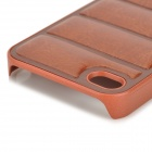 NEWTONS Protective PU Leather + Plastic Back Case for IPHONE 4 / 4S - Brown