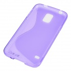 "YI-YI ""S"" Style Anti-Slip Protective TPU Back Case for Samsung Galaxy S5 i9600 - Purple"