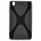 """X"" Style Anti-Slip Protective TPU Back Case for Samsung Galaxy Tab Pro 8.4 T320 - Black"
