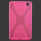 """X"" Style Anti-Slip Protective TPU Back Case for Samsung Galaxy Tab Pro 8.4 T320 - Deep Pink"