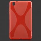 """X"" Style Anti-Slip Protective TPU Back Case for Samsung Galaxy Tab Pro 8.4 T320 - Red"