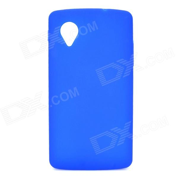 Protective Silicone Back Case for LG Nexus 5 - Dark Blue protective silicone back case for lg nexus 5 translucent white