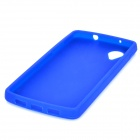 Protective Silicone Back Case for LG Nexus 5 - Dark Blue