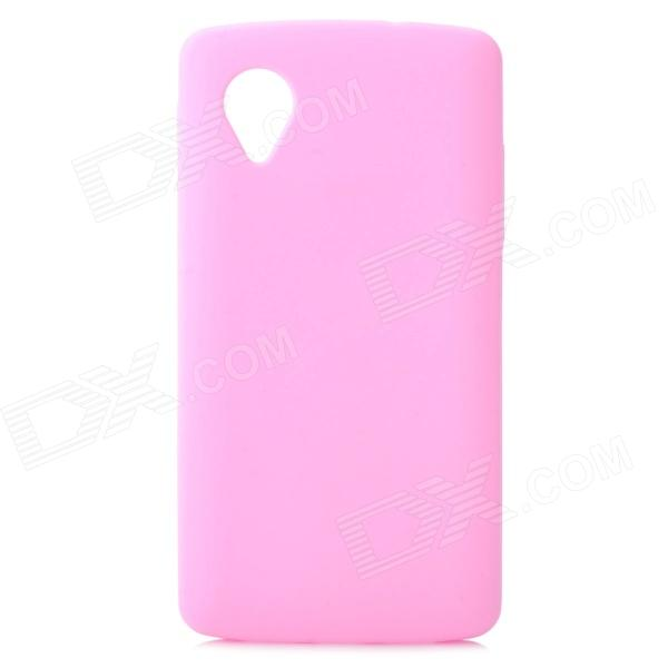 Stylish Protective Silicone Back Case for LG Nexus 5 - Pink stylish bubble pattern protective silicone abs back case front frame case for iphone 4 4s