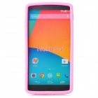 Stylish Protective Silicone Back Case for LG Nexus 5 - Pink