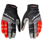 Acacia 0394302 Cycling Riding Full-Finger Gloves - Black + Red (Size XL / Pair)