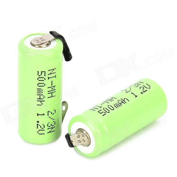 MT-006 1.2V 500mAh 2/3N Ni-MH Rechargeable Batteries - Grass Green (2 PCS)