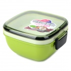 R1760 Convenient Sealing PP + ABS Lunch Box - White + Translucent Green (550ml)