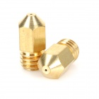 0.4mm 3D Printer Brass Nozzles for Makerbot - Golden (2 PCS)