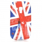 IKKI Graffiti UK National Flag Style Big Ben Pattern TPU Case for Samsung S3 Mini i8190 - Red + Blue