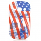 Graffiti US National Flag Style Statue of Liberty Pattern Case for Samsung Fame S6812 / S6810 - Blue