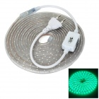 JRLED 24W 700lm Green 530nm 300-SMD 3528 LED Strip Light - White (AC 220V / 5M)