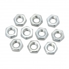 304 Stainless Steel Hex Screw Nuts - Silver (M4 / 10 PCS)