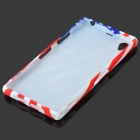 Graffiti US National Flag Style Statue of Liberty Pattern TPU Case for Sony Xperia Z1 - Blue + Red