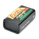 EXCELL 9V 6LR61 Alkaline Batteries - Black + Yellow + Multicolored (2 PCS)