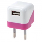EU Plug Power Adapter Charger for IPHONE IPAD IPOD - Deep Pink + White