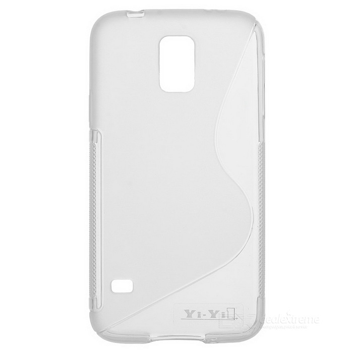 YI-YI ''S'' Shaped Anti-skid Protective TPU Back Case for Samsung Galaxy S5 i9600 yi yi s shaped anti skid protective tpu back case for sony xperia e translucent grey