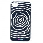 UNNAME ONE-001 Stylish Protective PC Back Case for IPHONE 4 / 4S - Dark Cyan + White