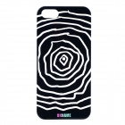 UNNAME ONE-002 Stylish Protective PC Back Case for IPHONE 5 / 5S - Black + White