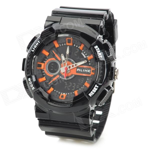 ALIKE AK1383 Outdoor Multifunction Analog + Digital Quartz Wrist Watch for Men