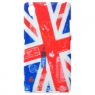 Graffiti UK National Flag Style Big Ben Pattern TPU Case for Sony Xperia Z1 / i1 / L39H - Red + Blue