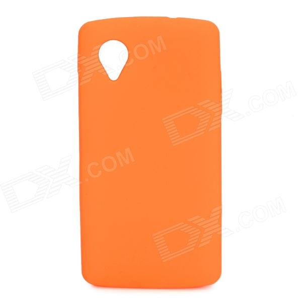 Stylish Protective Silicone Back Case for LG Nexus 5 - Orange stylish bubble pattern protective silicone abs back case front frame case for iphone 4 4s