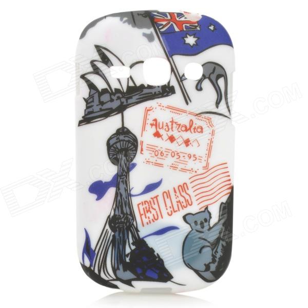 Graffiti Flag of Australia &amp; Sydney Opera House Style Case for Samsung Fame S6812 / S6810 - White - DX - DXTPU Cases<br>Color White + Black + Multi-Colored Brand N/A Model N/A Material TPU Quantity 1 Piece Shade Of Color Multi-color Compatible Models Samsung Galaxy Fame S6812 / S6810 Other Features Protects your device from scratches dust and shock Packing List 1 x Protective case<br>