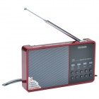 Tecsun D3 Digital Multi-Media Music Player Speaker w/ TF / FM Radio - Red + Silver Grey