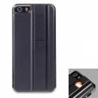 FIRE CASE Protective Plastic Case for IPHONE 5 / 5s w / USB Rechargeable Lighter - Grey