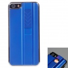 FIRE CASE Protective Plastic Case for IPHONE 5 / 5S w/ USB Rechargeable Lighter - Blue