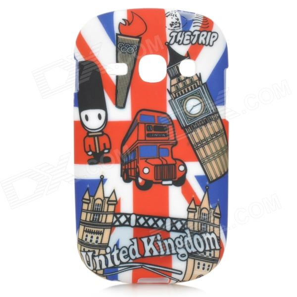 Graffiti UK National Flag Style Big Ben Pattern TPU Case for Samsung Fame S6812 / S6810 - Red + Blue meat grinder household multifunction meat grinder high quality stainless steel blade home cooking machine mincer sausage machine