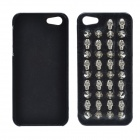 3D Rivet Skulls Protective PU Case for IPHONE 5 / 5S - Black