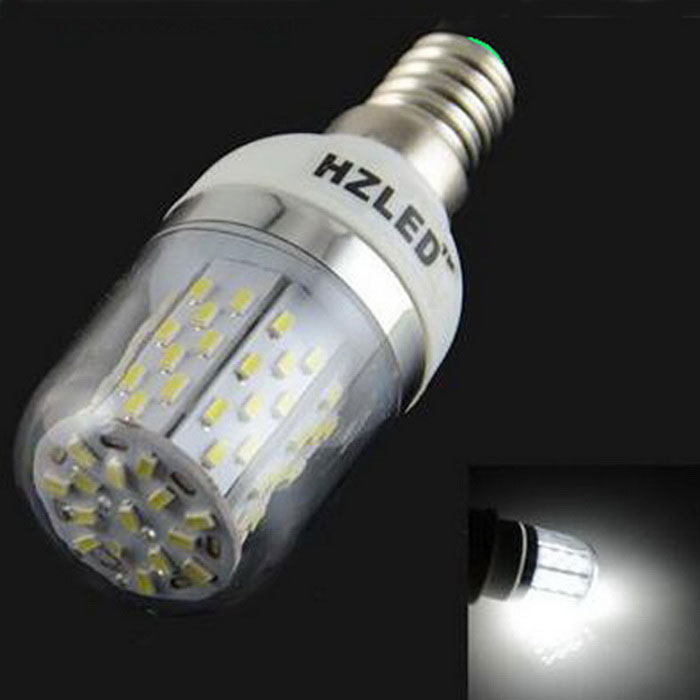 HZLED E14 5W 936lm 6000K 78 x SMD 3014 LED White Light Lamp Bulb - White + Silver (AC 85~265V) hzled e27 9w 810lm 6000k 96 x smd 3014 led white light lamp bulb white silver ac 85 265v