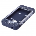 HM01 Ferris Wheel Pattern Protective Silicone Back Case for IPHONE 4 / 4S - Black + White