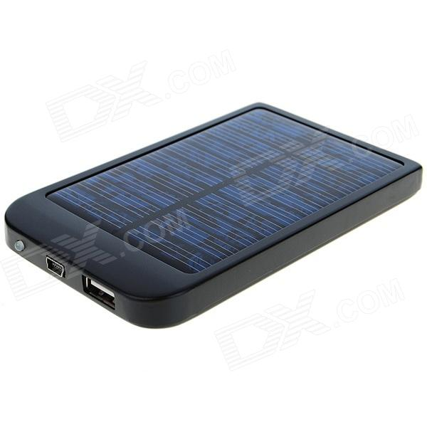 Solar Powered 2600mAh Rechargeable Battery Pack with Cellphone Adapters