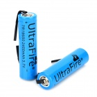 "UltraFire A-02 3.7V ""2400mAh"" Rechargeable Li-ion 18650 Batteries - Blue (2 PCS)"