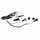 Sonun SQ-IP1011 In-Ear Stereo Earphone w/ Microphone for IPHONE / Samsung / HTC - Black + White